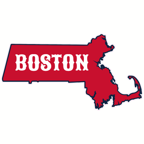 Boston Massachusetts State Shaped Sticker | U.S. Custom Stickers