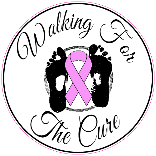 Breast Cancer Awareness Walking For The Cure Sticker | U.S. Custom Stickers