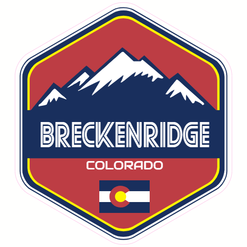 Breckenridge Colorado Mountain Sticker | U.S. Custom Stickers
