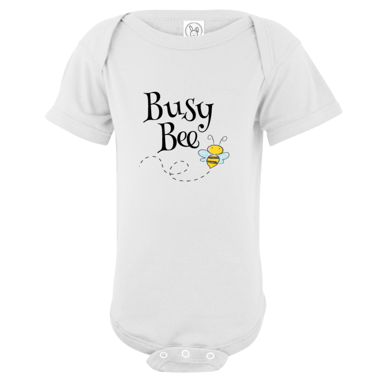 Busy Bee Baby Bodysuit White