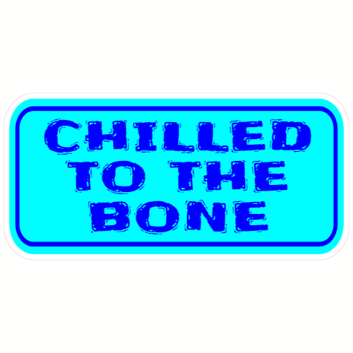 Chilled To The Bone Sticker | U.S. Custom Stickers