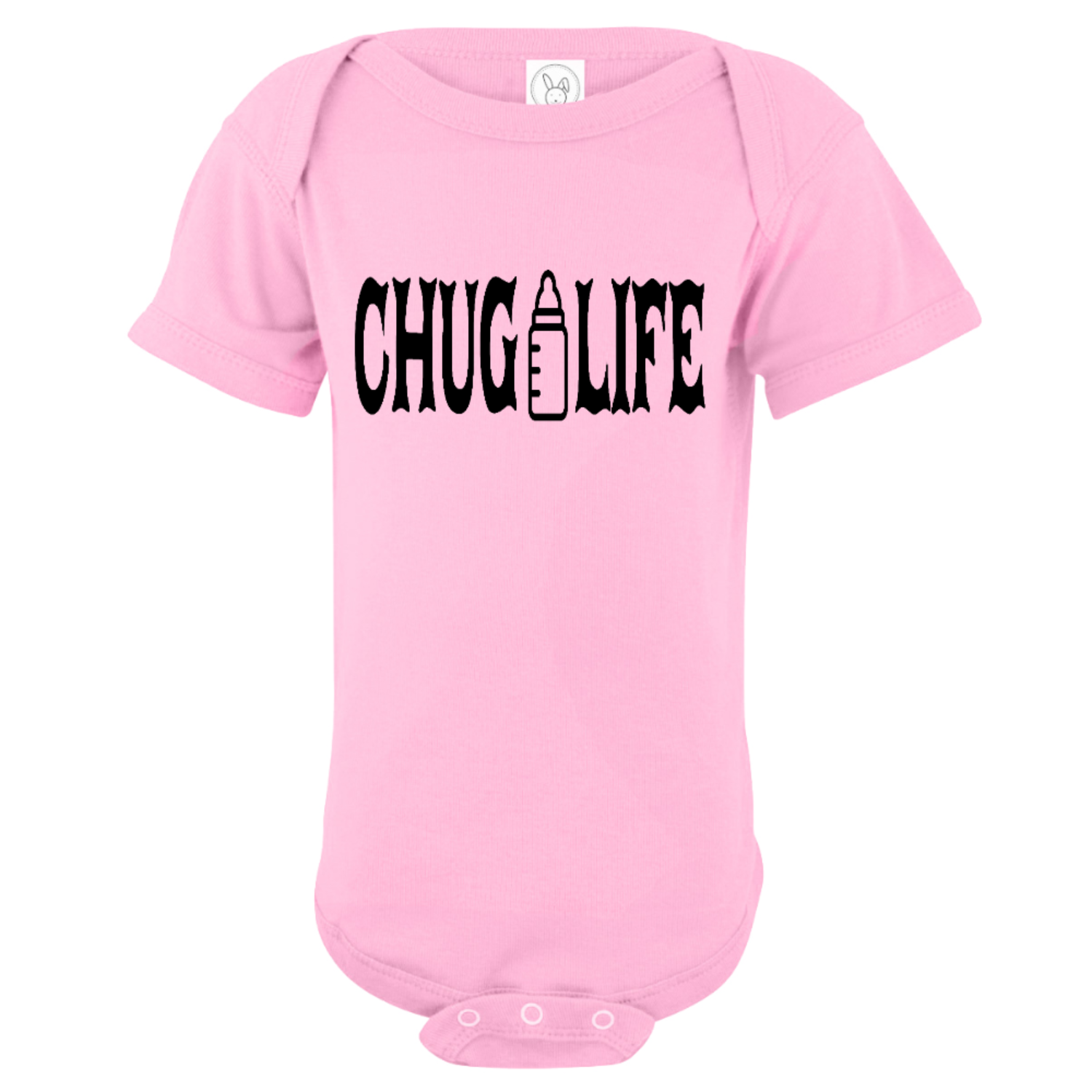 Chug Life Bottle Baby Bodysuit Light Pink