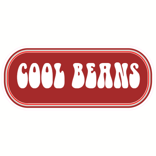 Cool Beans Rounded Rectangle Sticker | U.S. Custom Stickers
