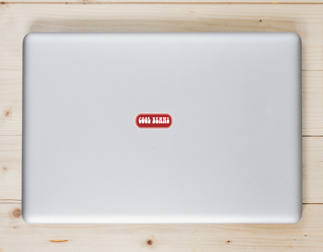 Cool Beans Rounded Rectangle Sticker Laptop Sticker