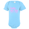 Daddy's Other Chick Baby Bodysuit Light Blue