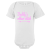 Daddy's Other Chick Baby Bodysuit White