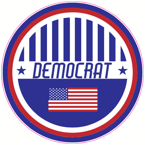 Democrat Patriotic Circle Sticker | U.S. Custom Stickers