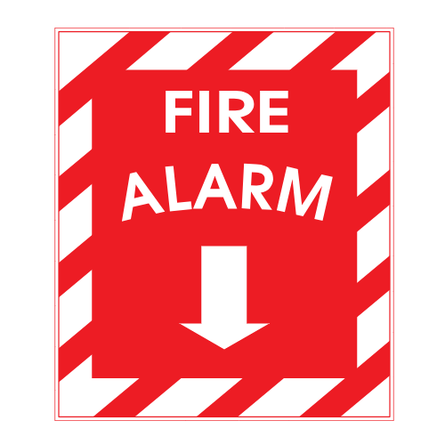 Fire Alarm Down Arrow Sticker | U.S. Custom Stickers