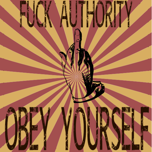 Fuck Authority Sticker | U.S. Custom Stickers