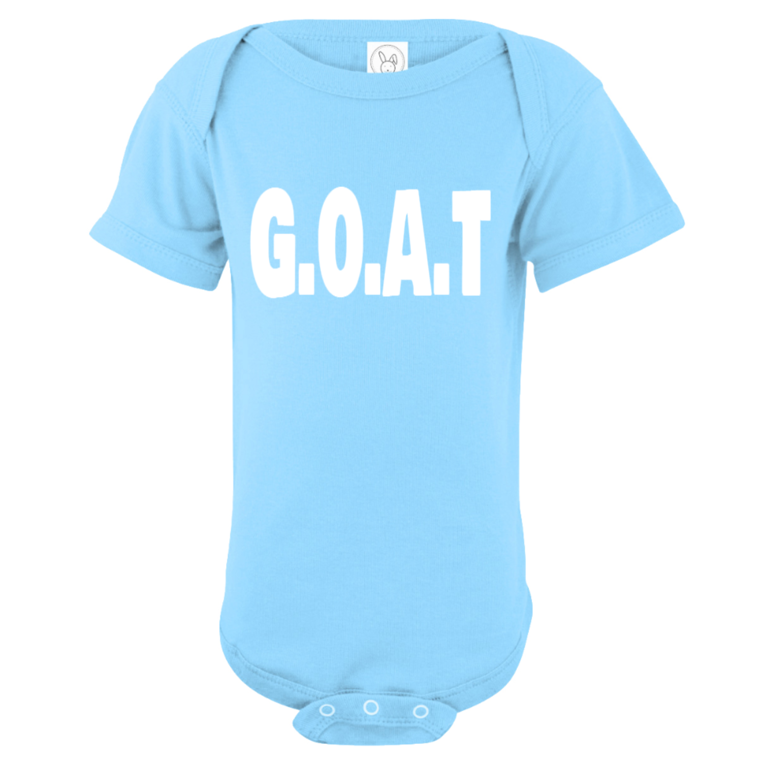 G.O.A.T Greatest Of All Time Baby Bodysuit Light Blue