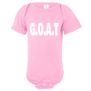 G.O.A.T Greatest Of All Time Baby Bodysuit Light Pink