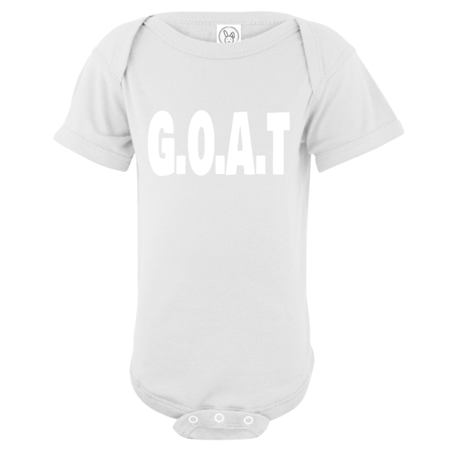 G.O.A.T Greatest Of All Time Baby Bodysuit White