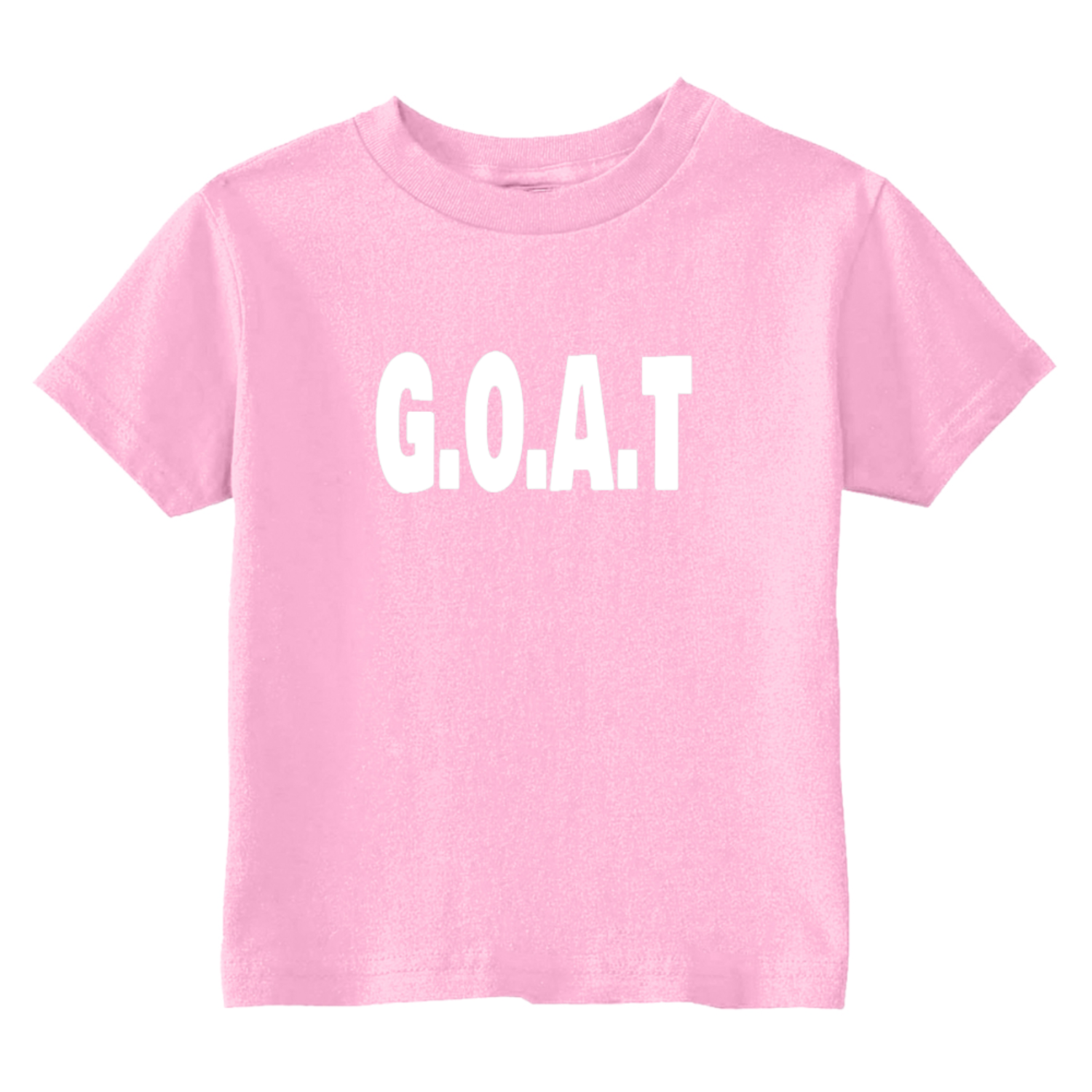 GOAT Greatest Of All Time Toddler T-Shirt Light Pink