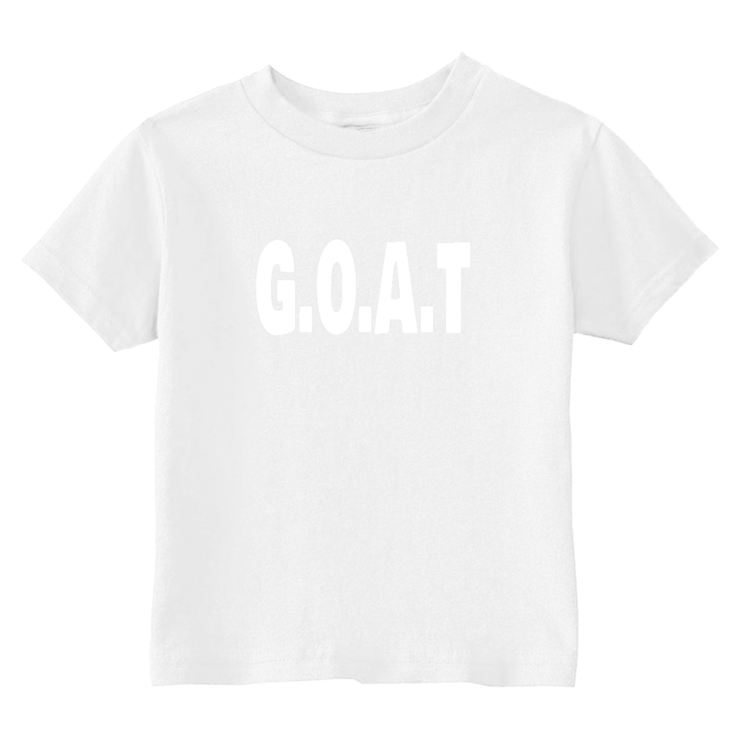 GOAT Greatest Of All Time Toddler T-Shirt White