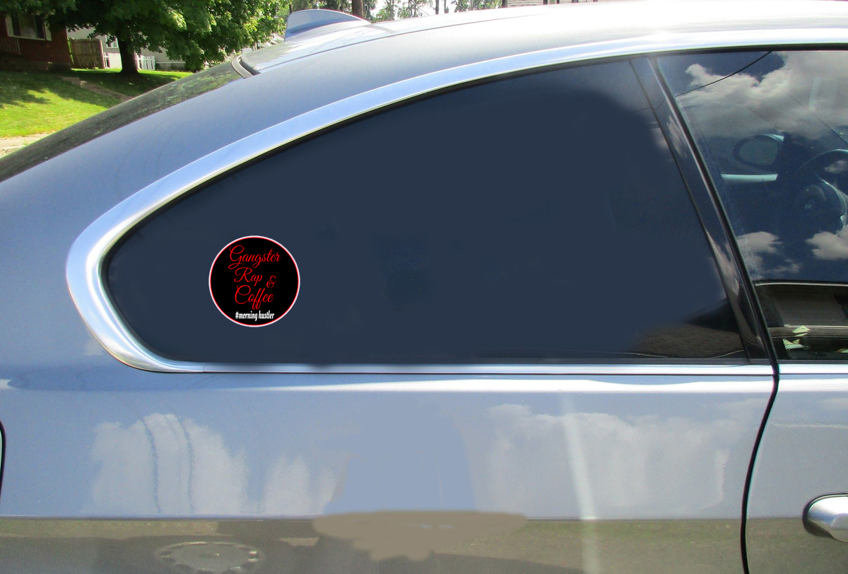 Gangster Rap And Coffee Sticker Car Sticker