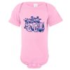Garbage Truck Baby Bodysuit Light Pink