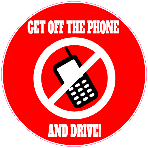 Get Off The Phone And Drive Sticker | U.S. Custom Stickers