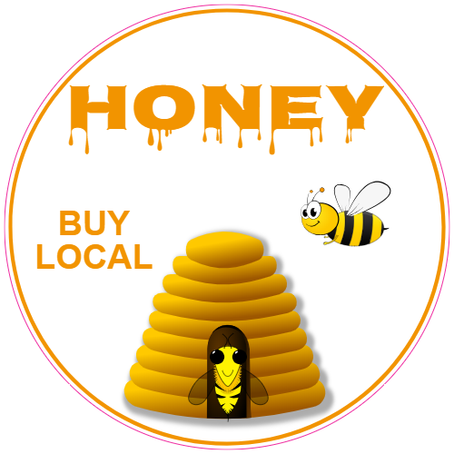 Honey Buy Local Circle Sticker | U.S. Custom Stickers