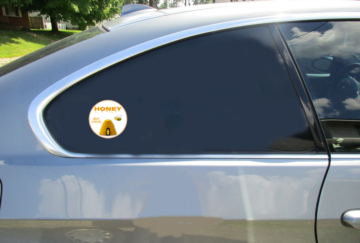 Honey Buy Local Circle Sticker Car Sticker