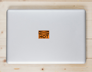 Hot Warning Sign Sticker Laptop Sticker
