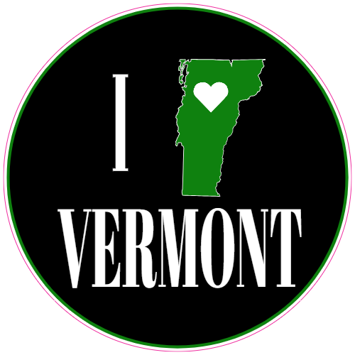 I Love Vermont State Sticker | U.S. Custom Stickers