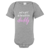 In Love With Daddy Baby Bodysuit Gray
