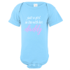 In Love With Daddy Baby Bodysuit Light Blue
