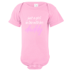 In Love With Daddy Baby Bodysuit Light Pink