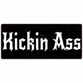 Kickin Ass Black Sticker | U.S. Custom Stickers