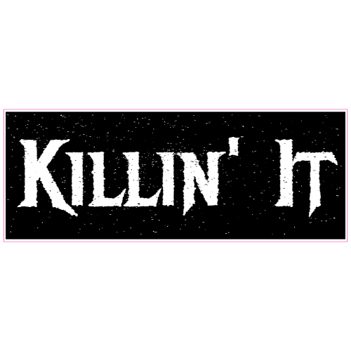 Killin It Black Sticker | U.S. Custom Stickers