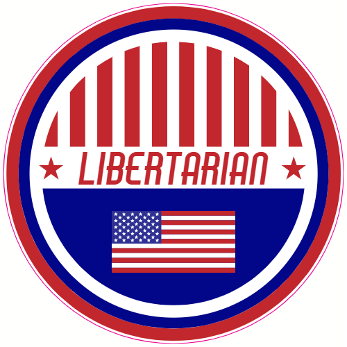 Libertarian Patriotic Circle Sticker | U.S. Custom Stickers