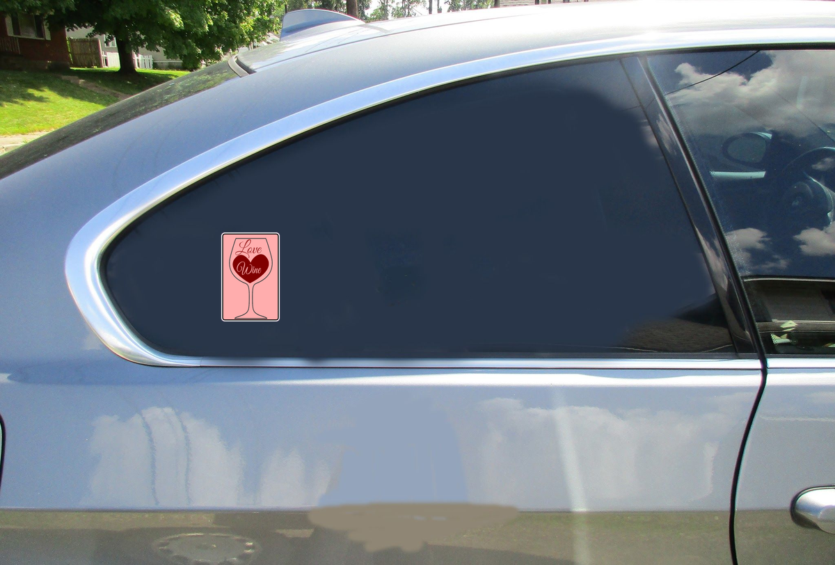 Love Wine Heart Glass Sticker Car Sticker