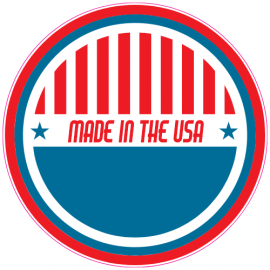 Made In The USA Patriotic Sticker | U.S. Custom Stickers