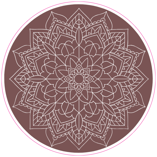 Mandala Flower Sticker | U.S. Custom Stickers