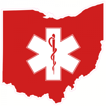 Ohio EMS State Shaped Sticker | U.S. Custom Stickers