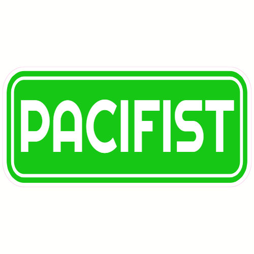 Pacifist Peace Sticker | U.S. Custom Stickers