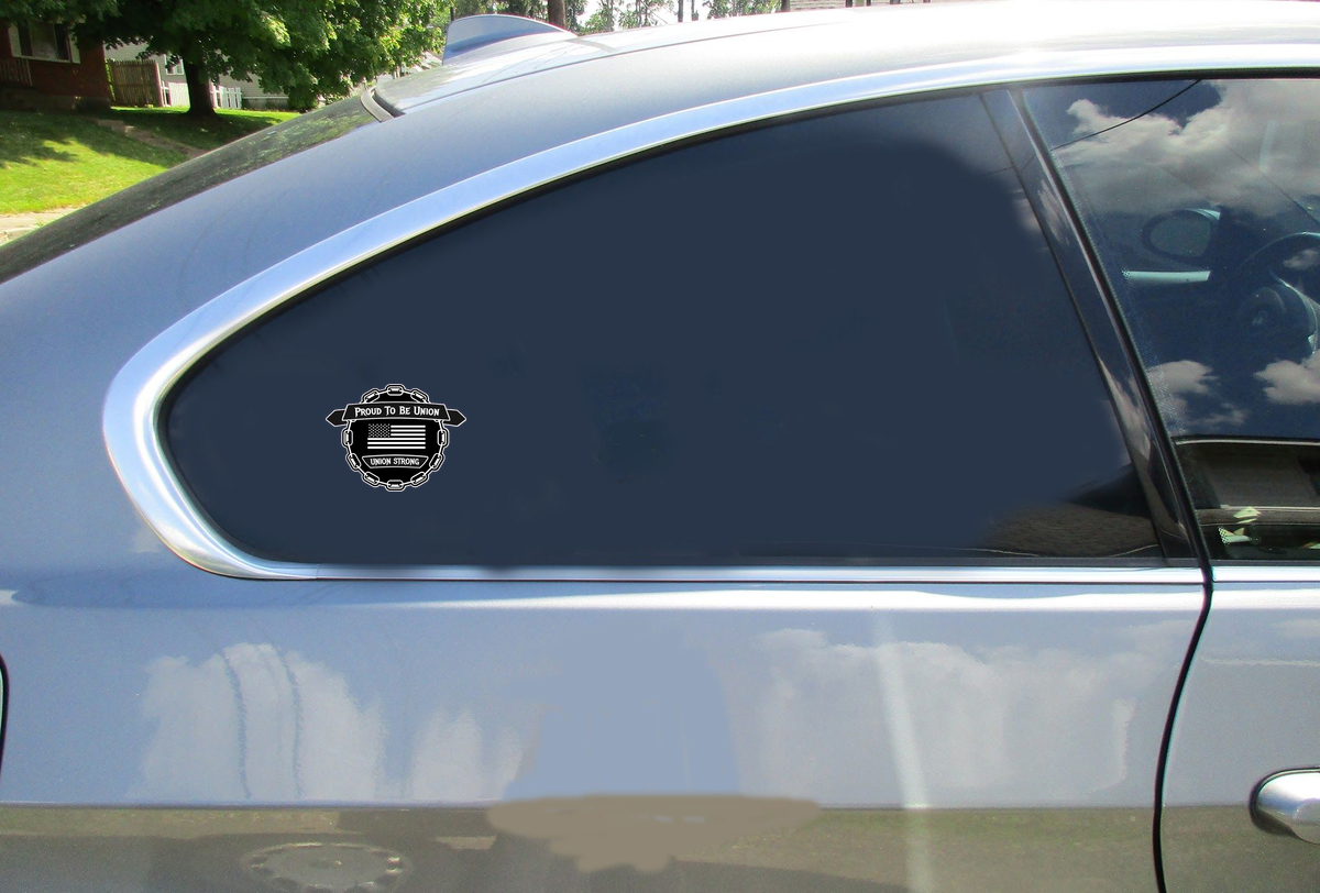Proud To Be Union Chain Sticker Car Sticker