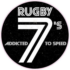Rugby 7s Addicted To Speed Circle Sticker | U.S. Custom Stickers