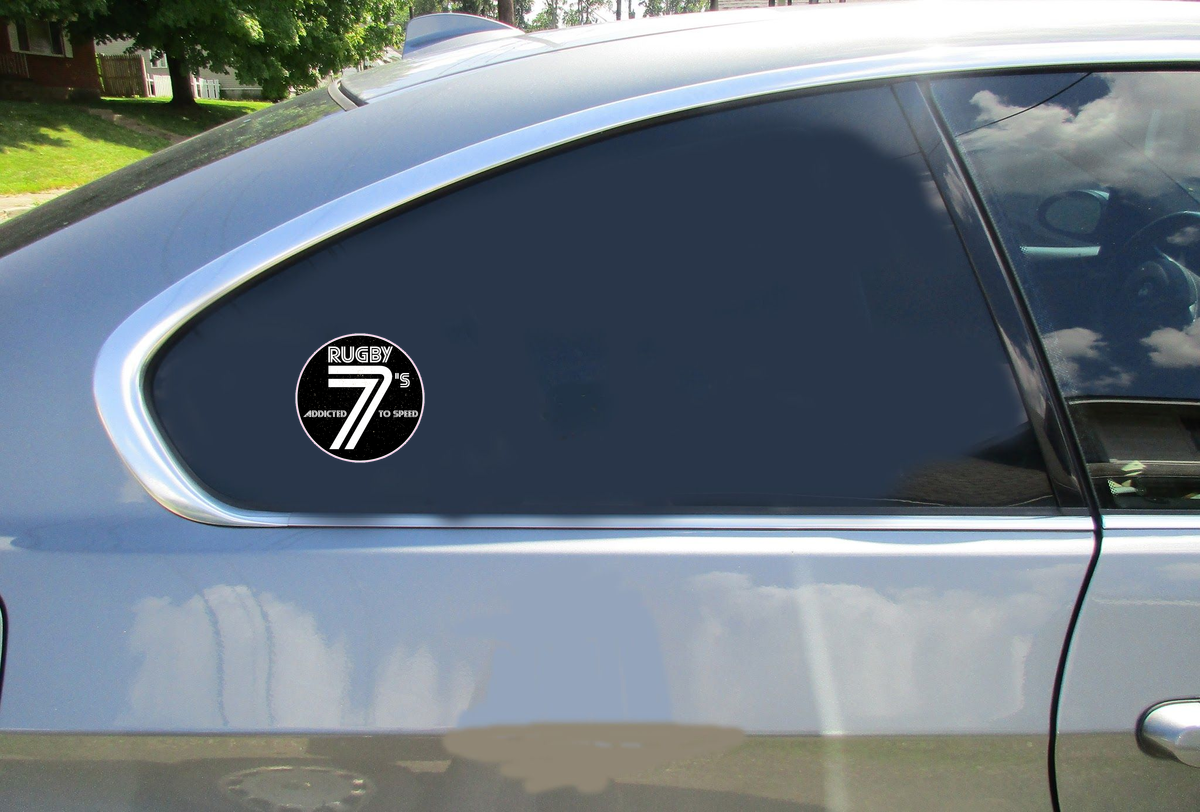 Rugby 7s Addicted To Speed Circle Sticker Car Sticker