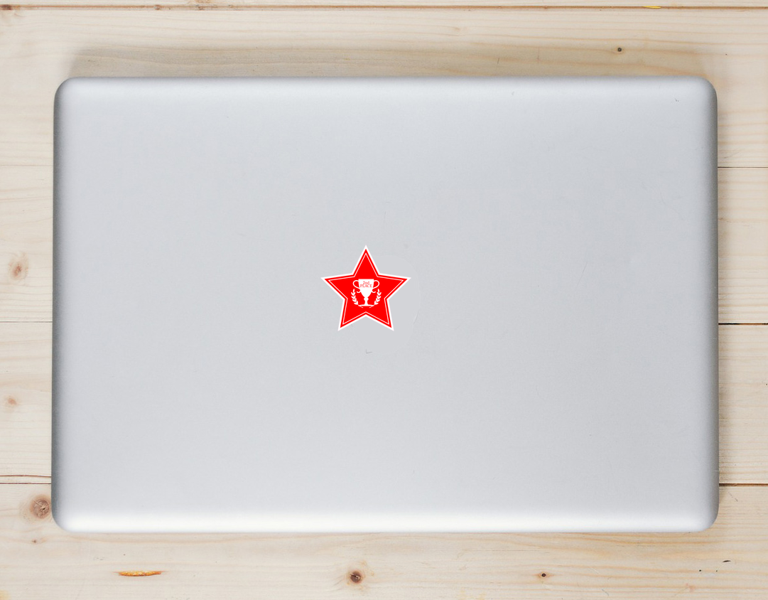 Second Place Red Star Sticker Laptop Sticker