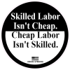 Skilled Labor Union Strong Circle Sticker | U.S. Custom Stickers