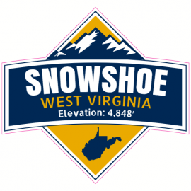 Snowshoe West Virginia Elevation Sticker | U.S. Custom Stickers
