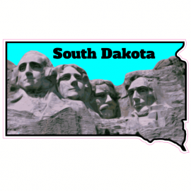 South Dakota Mt Rushmore State Sticker | U.S. Custom Stickers