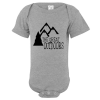 The Great Outdoors Mountain Baby Bodysuit Gray
