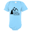 The Great Outdoors Mountain Baby Bodysuit Light Blue