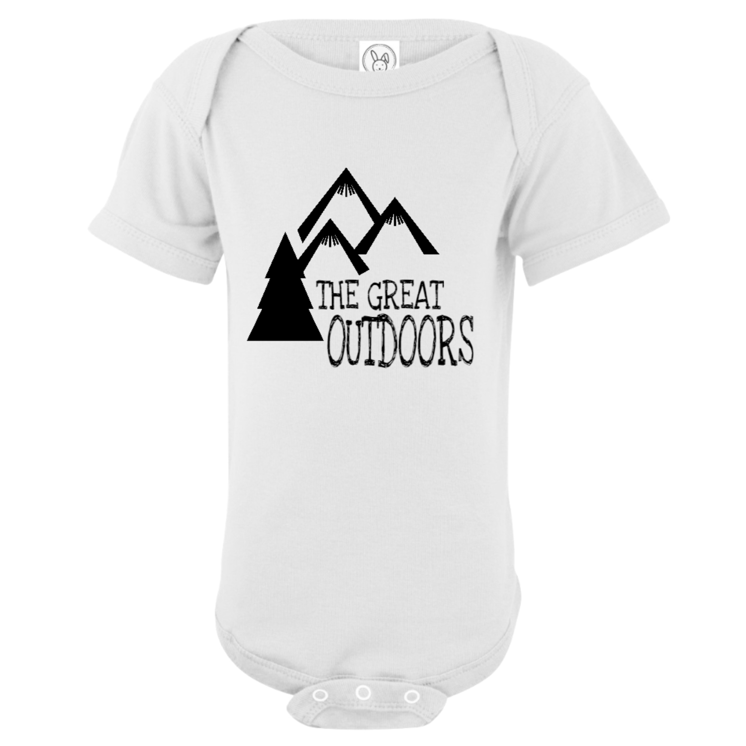 The Great Outdoors Mountain Baby Bodysuit White