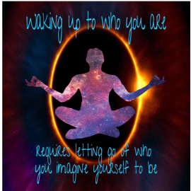 Waking Up To Who You Are Meditation Sticker | U.S. Custom Stickers