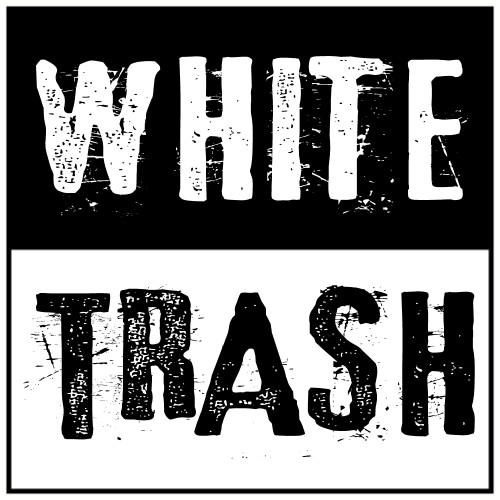 White Trash Sticker | U.S. Custom Stickers