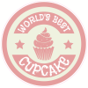 World's Best Cupcake Circle Sticker | U.S. Custom Stickers