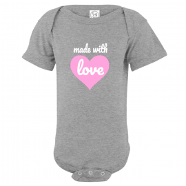 Made With Love Baby Bodysuit | U.S. Custom Kids